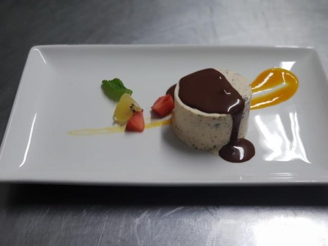 Biscuit  de de turrón con chocolate
